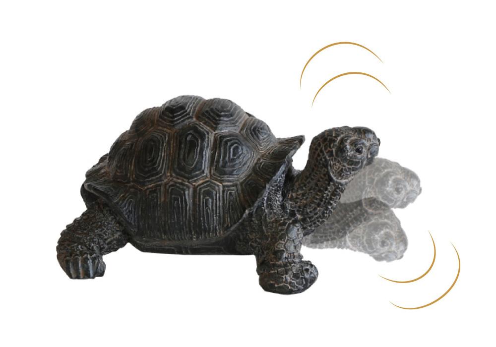 REPTILES MAG TORTOISE SHAKE(レプタイルズ マグ トータス シェイク)の首がフルフル動くイメージ