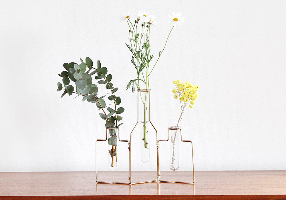 STABLE WIRE VASE3/GOLD