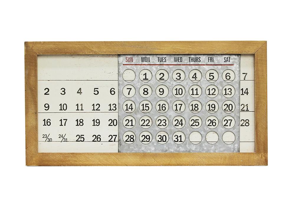 WOODEN PERPETUAL CALENDER MINI(ウッデンパーペチュアル カレンダー ミニ)のイメージ写真02