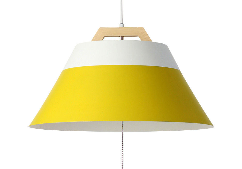 LAMP by 2TONE 3BLUB PENDANT LIGHT YELLOW