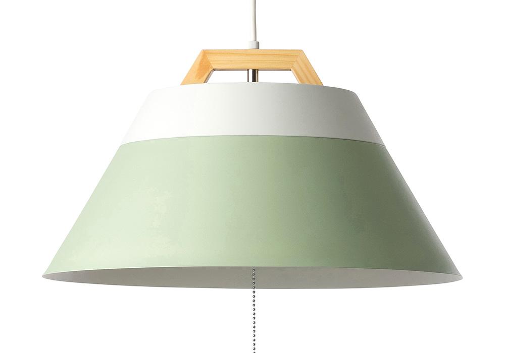 LAMP by 2TONE 3BLUB PENDANT LIGHT LIGHTGREEN