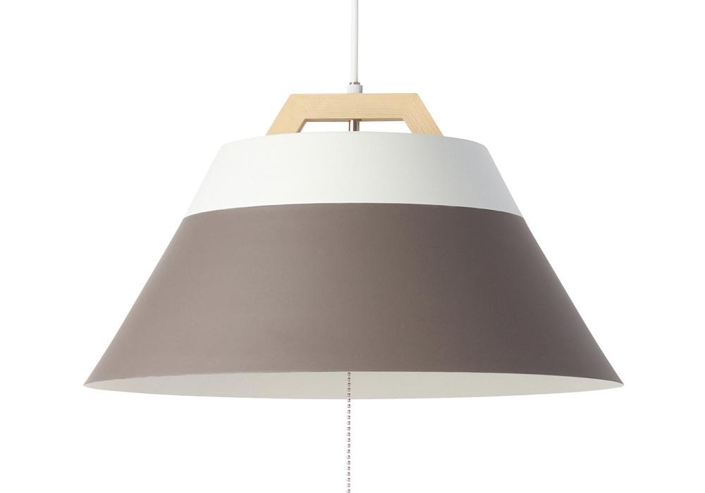 LAMP by 2TONE 3BLUB PENDANT LIGHT BROWN