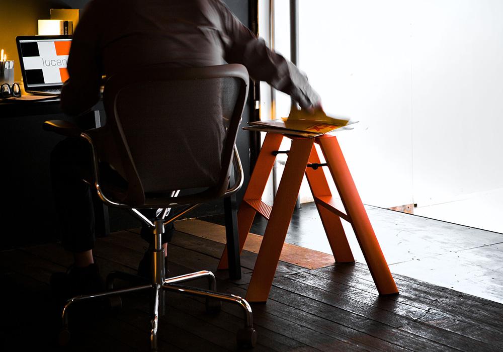 lucano Step stool(ルカーノ ステップスツール)ホワイトのイメージ写真01