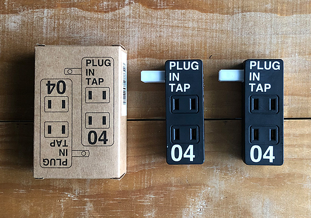 PLUG IN TAP_04 × 2SET(プラグインタップ 4個口2個セット)のイメージ写真01
