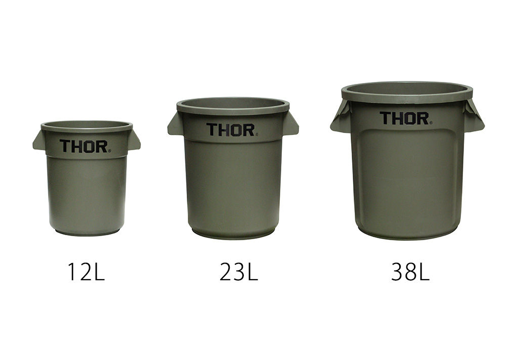 Thor Round Container Olive drabのイメージ写真03