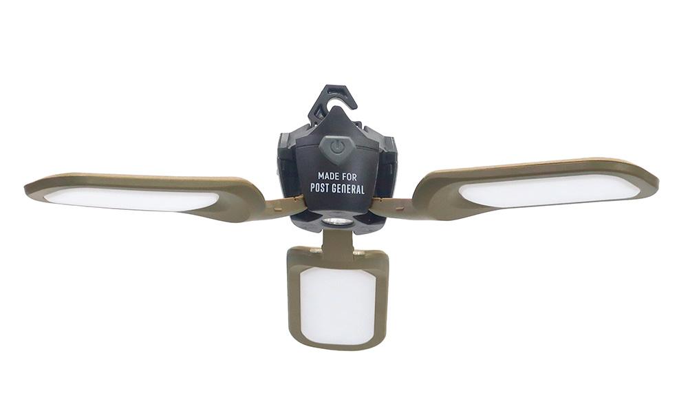 TRI-PANEL SOLAR CHARGED LED LIGHT(トリ-パネル ソーラーチャージド エルイーディーライト)OLIVEのイメージ写真02