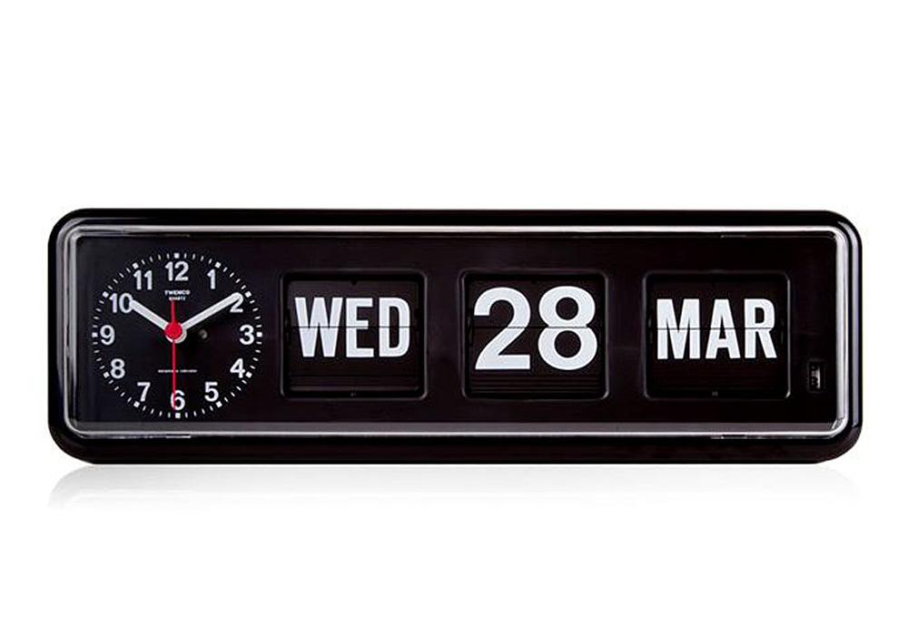 Twemco Calendar Clock #BQ-38 Black