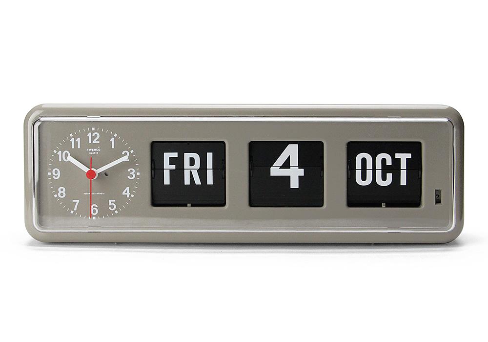 Twemco Calendar Clock #BQ-38 Gray