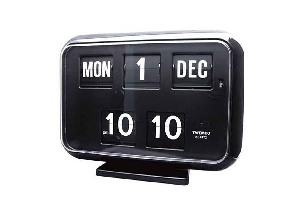 Twemco Digital Calendar Clock #QD-35 Black