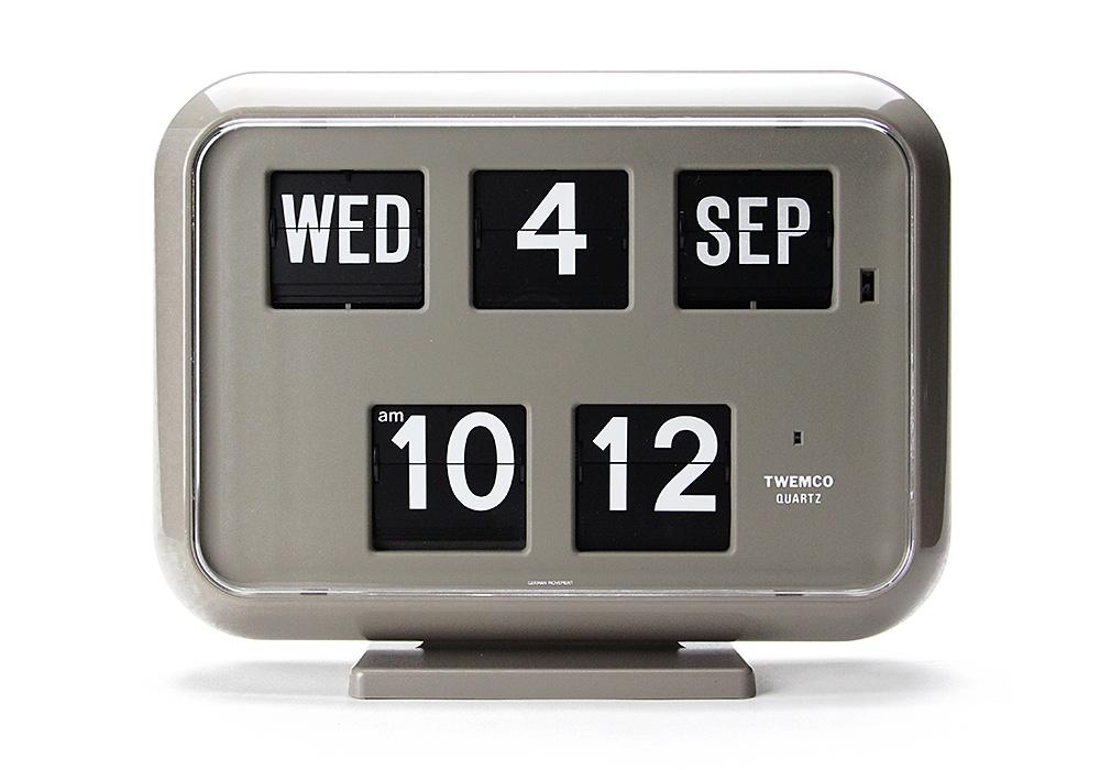 Twemco Digital Calendar Clock #QD-35 Gray