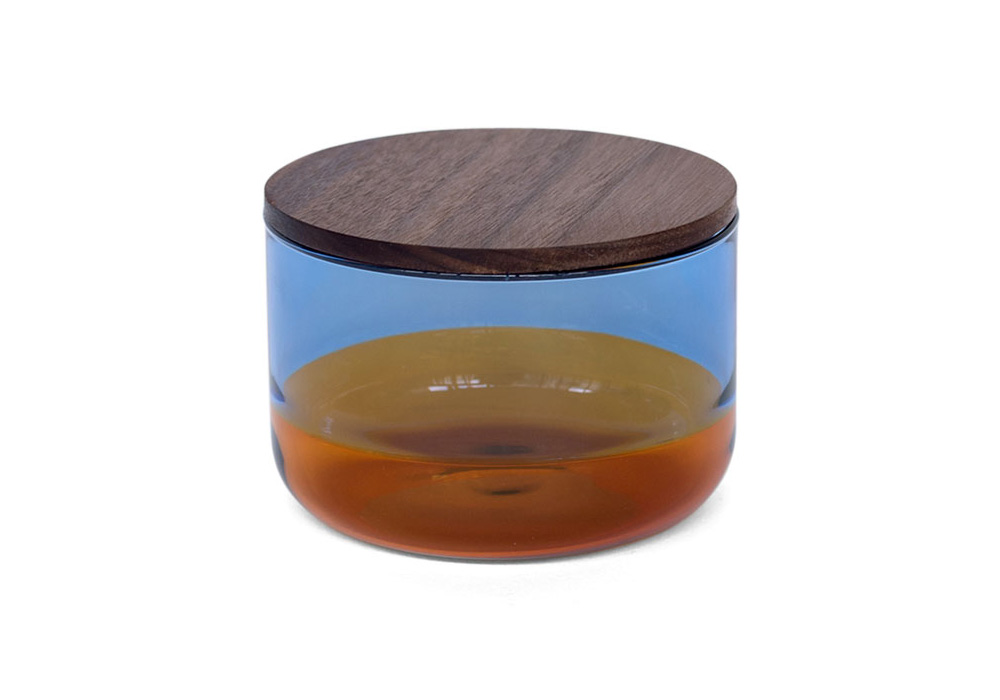 TWO TONE CANISTER Blue×Amber