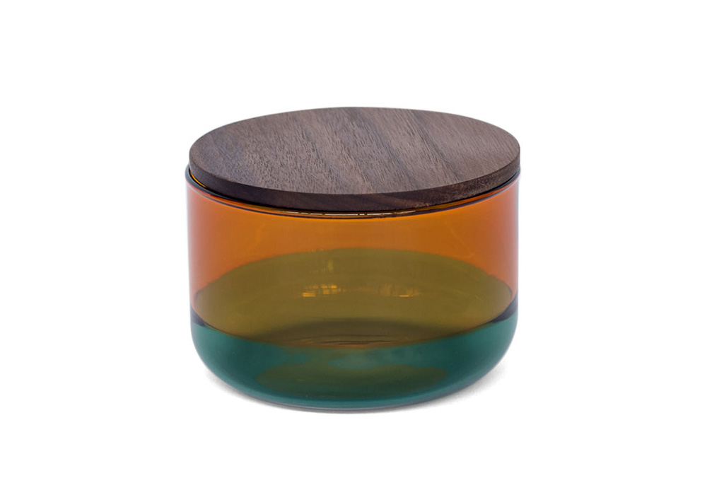 TWO TONE CANISTER Amber×Green