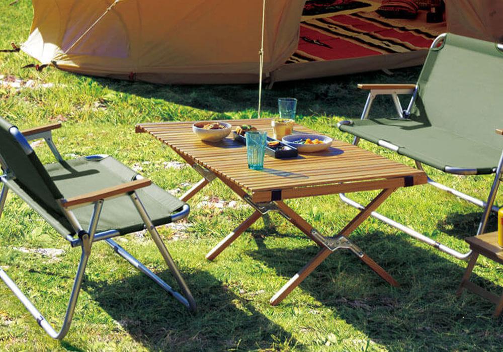 WOOD ROLL TOP TABLE(ウッド ロールトップテーブル)のイメージ写真01