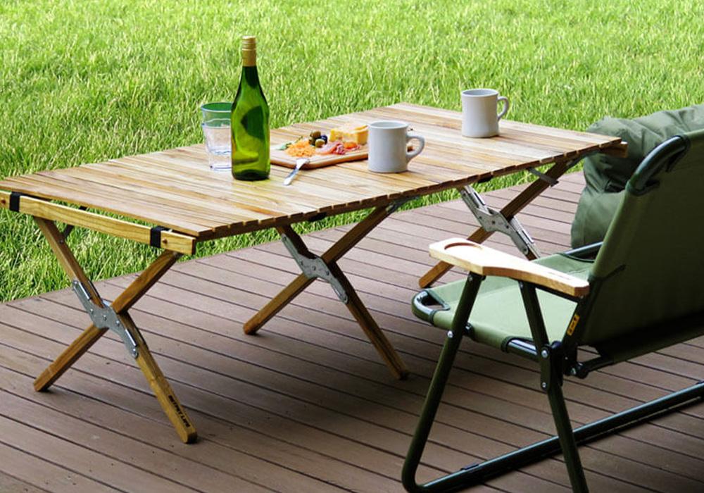 WOOD ROLL TOP TABLE(ウッド ロールトップテーブル)のイメージ写真02