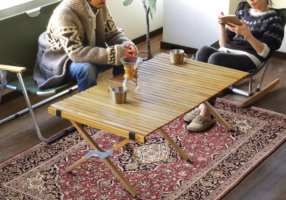 WOOD ROLL TOP TABLE(ウッド ロールトップテーブル)のイメージ写真03