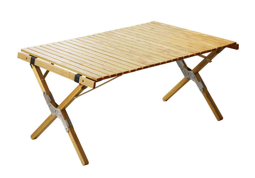 WOOD ROLL TOP TABLE(ウッド ロールトップテーブル)Sサイズ/シルバーのイメージ写真