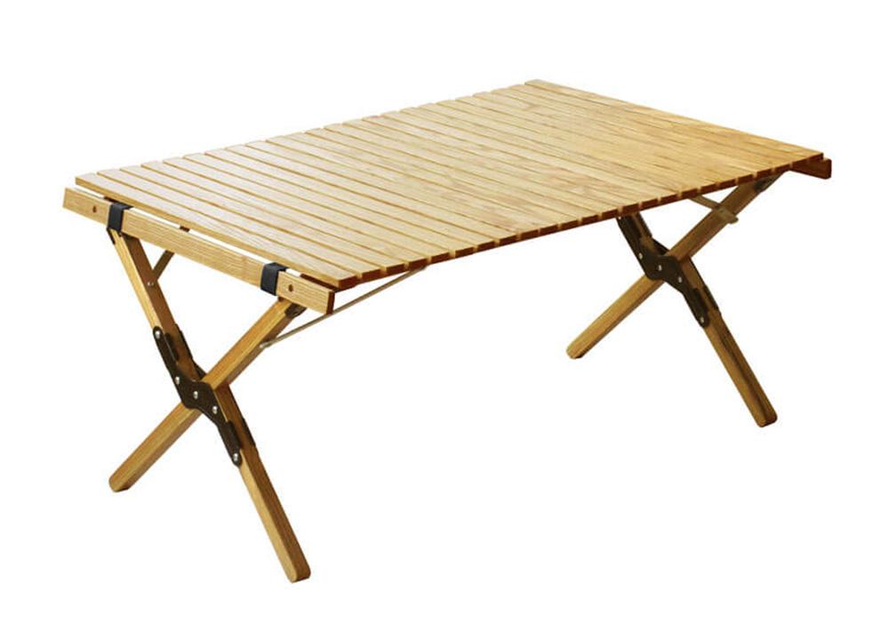 WOOD ROLL TOP TABLE(ウッド ロールトップテーブル)Sサイズ/ブラックのイメージ写真