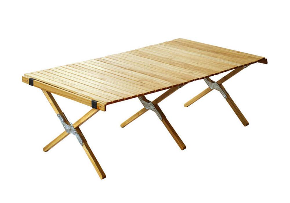 WOOD ROLL TOP TABLE(ウッド ロールトップテーブル)Lサイズ/シルバーのイメージ写真