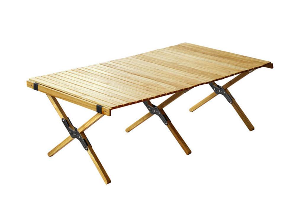 WOOD ROLL TOP TABLE(ウッド ロールトップテーブル)Lサイズ/ブラックのイメージ写真