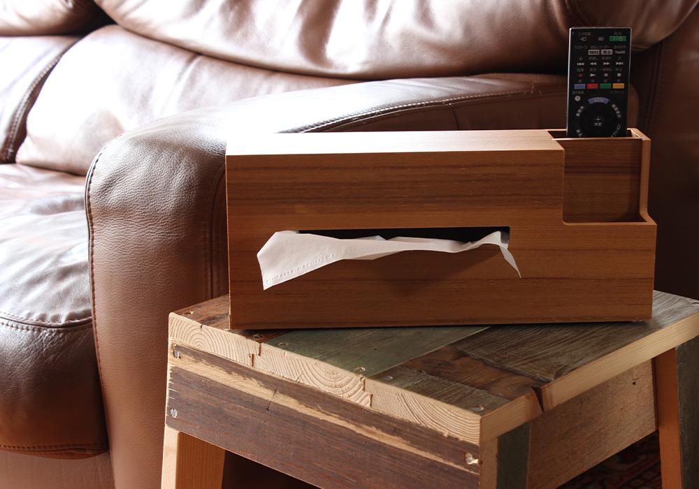 WOOD TISSUE CASE(ウッドティッシュケース)のイメージ写真01