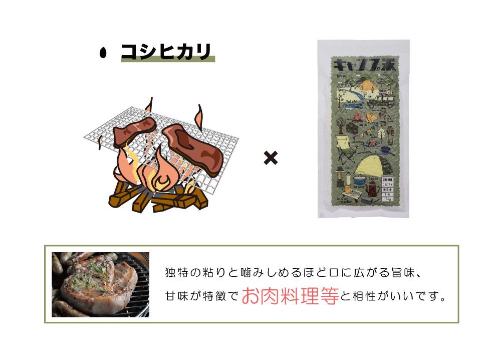 キャンプ米 コシヒカリのイメージ写真02