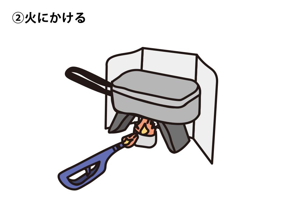 キャンプ米のおいしい炊き方02